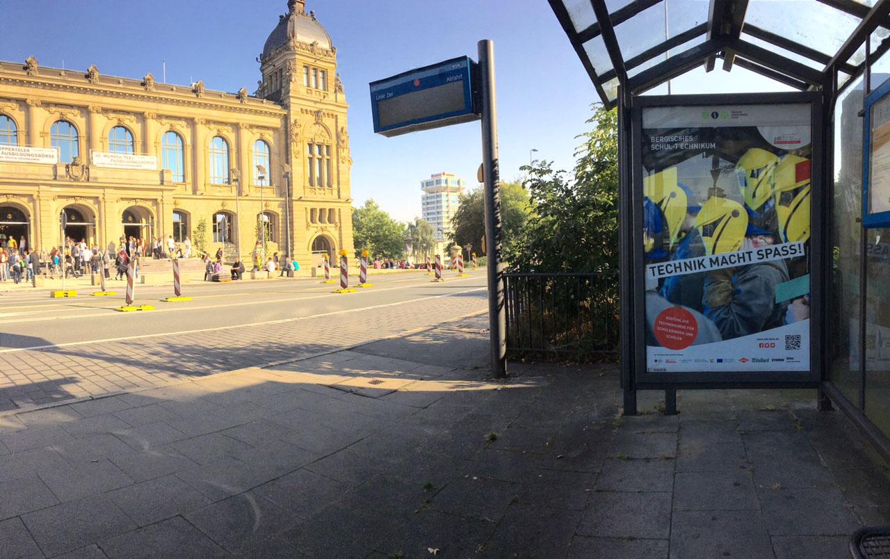 Plakatkampagne des Bergischen Schul-Technikums